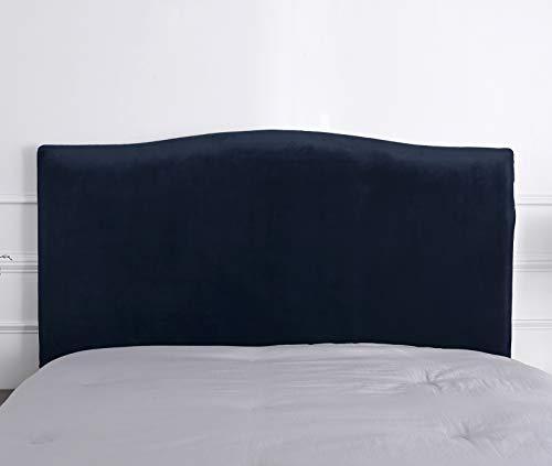 Funda para cabecero de cama de protección para cabecero de cama elástica de color liso para dormitorio (201-220, azul marino)