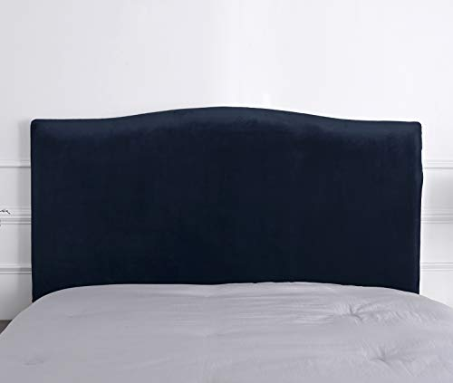 Funda para cabecero de cama de protección para cabecero de cama elástica de color liso para dormitorio (171-200, Navy)