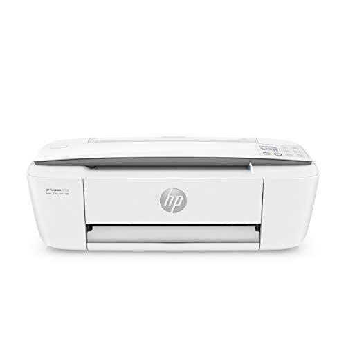 HP DeskJet 3750 (T8X12B) Stampante Multifunzione a Getto di Inchiostro, Stampa, Scansiona, Fotocopia, Wi-Fi, A4, HP Smart, 6 Mesi di HP Instant Ink Inclusi nel Prezzo, Grigio Perla