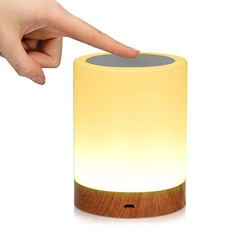 LED Nachttischlampe, Nachttischlampe Led Nachtlichter Smart Touch Control Dimmbar Nachtlicht Farbwechsel für Kinderzimmer, Treppenaufgang,Schlafzimmer, Küche, Geschenke