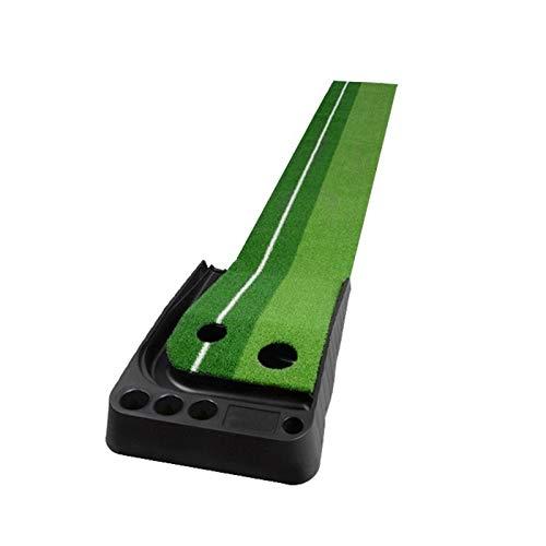 IMDOU Estera práctica del Golf para el jardín Pelota de Golf Práctica Mats Putt Trainer 2,5 m sin Retorno Carril Golf Mate jardín y Neta (Color : Green)