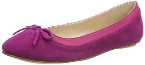 Buffalo Damen ANNELIE Geschlossene Ballerinas, Pink (Fuchsia 000), 38 EU