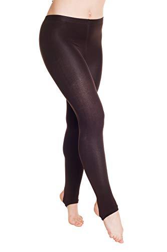 HO-Ersoka Damen Thermo-Strumpfhose mit Steg Innenfleece blickdicht warm braun onesize