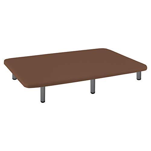 Naturconfort Base tapizada 3D, Madera, Chocolate, 135x180cm