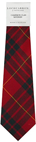 I Luv Ltd Gents Neck Tie Cameron Tartan Modern Tartan Lightweight Scottish Clan Tie