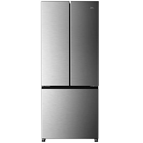 Galanz GLR16FS2D08 3 French Door Refrigerator with Bottom Freezer & Adjustable Thermostat, 16 Cu Ft, Stainless Steel