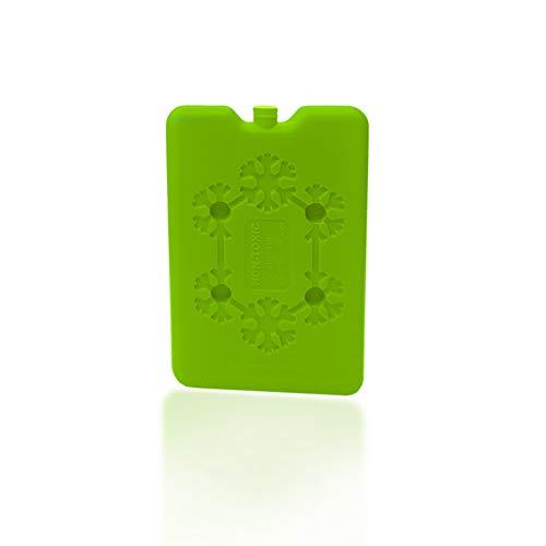 Acumulador de frío para neveras | Acumulador de frío extraplano | Producto no tóxico con Agua destilada | Ideal para excursiones | Enfría rápido | Verde Plano