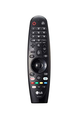 LG Magic Control MR20GA - Mando a Distancia para Smart TV LG 2020 (Reconocimiento de Voz, apunta y navega, Rueda de Scroll, Teclado numérico, Botones Netflix, Prime Video y Rakuten TV) Color Negro