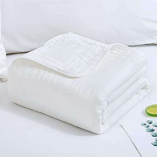 Solida muslin baby swaddle filtar, stora neutrala mottagande filtar wrap för baby 100 % bomull andningsbart unisex baby överkast (110 x 120 cm, vit)