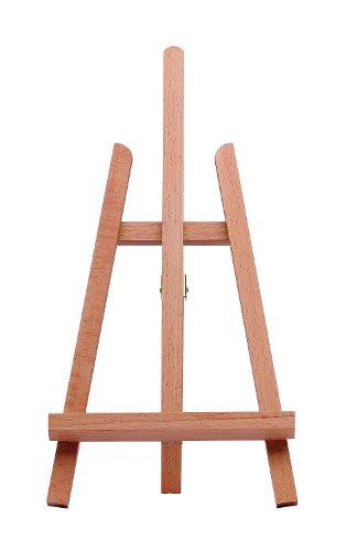 Marabu 1625000000101 - Tisch Staffelei, kleine, dreibeinige Holzstaffelei, zum Aufstellen von Keilrahmen, Fotos und Karten, aus lackiertem Buchenholz, maximale Bildhöhe 36 cm, Gesamthöhe ca. 43 cm