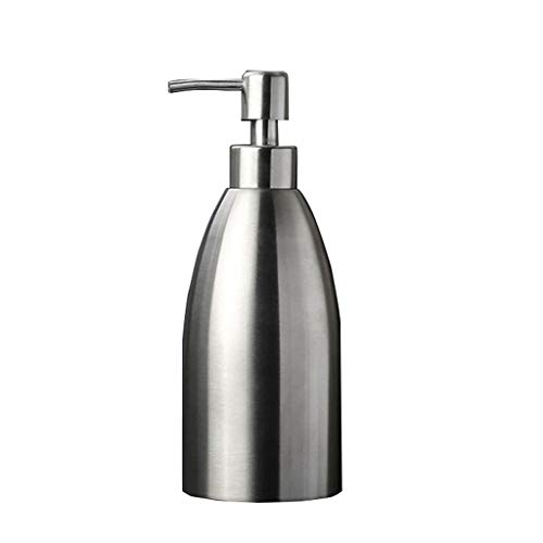 WGGTX Dispensador de jabón para Ducha 304 Acero Inoxidable Familia Hotel Bathroom Soap Box portátil Ducha desinfectante de la Mano del champú Gel Botella vacía Hotel, Aseo (Size : 500ML)