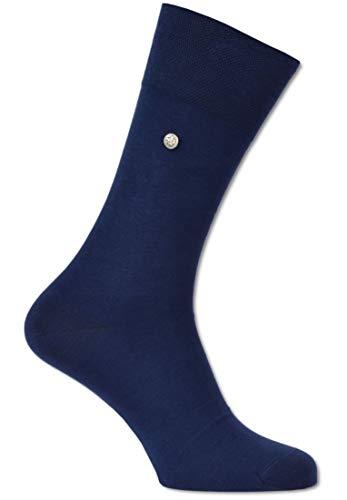 Carlo Colucci Socke ?FIRENZE? aus merzerisierter Baumwolle mit Niete, Navy Navy 45-46