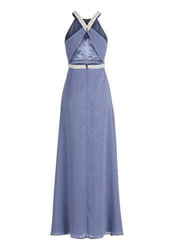 Vera Mont VM Damen 0084/4825 Partykleid, Blau (Gray Blue 8135), (Herstellergröße: 42)