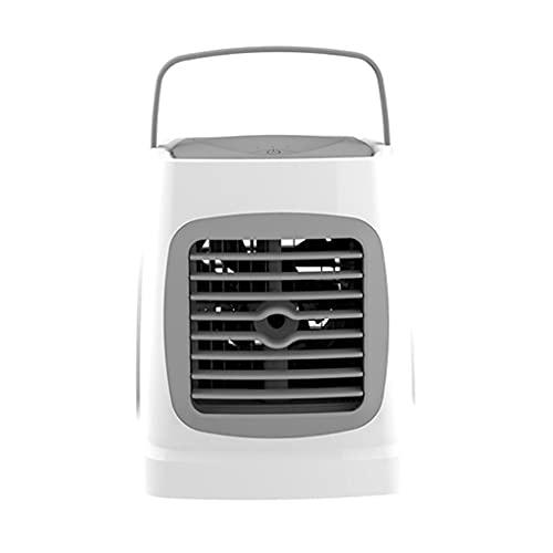 Aiglen Mini Aire Acondicionado en Aerosol portátil USB Recargable acondicionador humidificador Ventilador Aire Acondicionado Ventilador (Color : Gray, Size : 17.5cm*15.5cm)