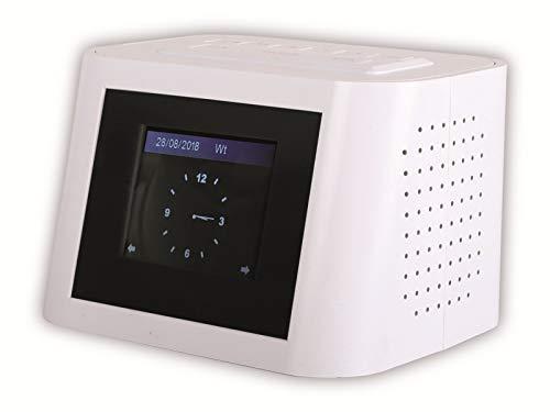 Red Opticum TON6 Internet und UKW Radio in weiß mit 2.4 Zoll TFT- Farbdisplay/AUX-IN Eingang/Kopfhörerausgang