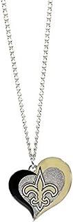 NFL New Orleans Saints Swirl Heart Necklace