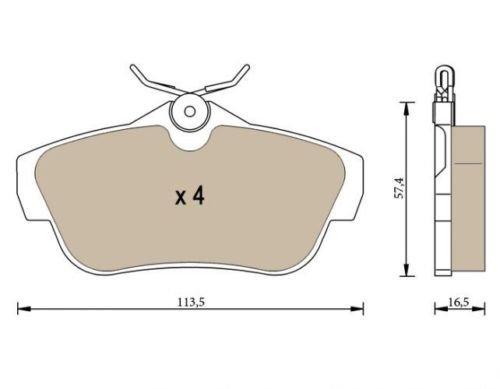 Patins de frein arrière P1397
