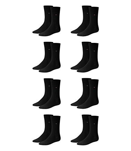 TOMMY HILFIGER Herren Classic Casual Business Socken 8er Pack ( Black , 39/42 )