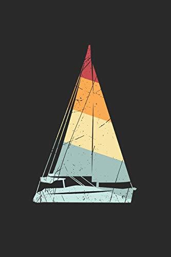 Notizbuch: Segeln A5 Notebook Segelboot auf Wasser retro vintage I Geschenk für Segler I Schreibheft oder Tagebuch liniert I Notizheft mit Boot