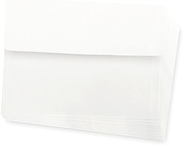Darice Smooth A7 Envelopes 5 25 X 7 25 Inch White 50 Pack