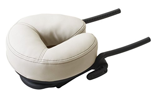 EARTHLITE Massage Table Face Cradle CARESS - Self-Adjusting, Innovative Massage Platform with Luxurious Strata Face Pillow (NEW MODEL), Vanilla Crème