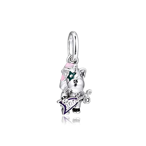 Pandora S925 colgante de joyería de plata esterlina encantos para pulseras collares joyería de plata esterlina bruno the unicorn punk band beads envío gratis