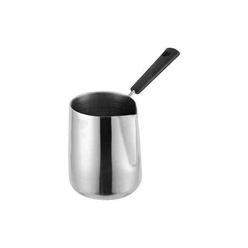 Jroyseter Wachsschmelztiegel aus Edelstahl mit spitzem Schalenmund Wachsschmelztopf mit langem Griff für Seifenkerzenherstellungssätze (1000ml)