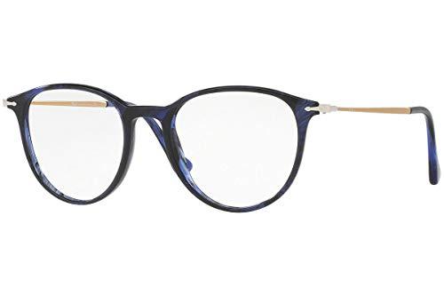 Persol PO3147V Brillen 48-19-140 Gestreifte Blaue Mit Demonstrationsgläsern 1053 PO3147V PO 3147V PO 3147V
