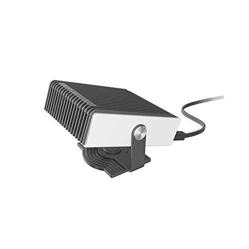 Hewyhat - Mini radiador ventilador soplador para invierno, ahorro de energía, calefactor adicional, 150 W, ventilador radiador portátil anticongelante de ventana, 12 V/24 V, 12 V