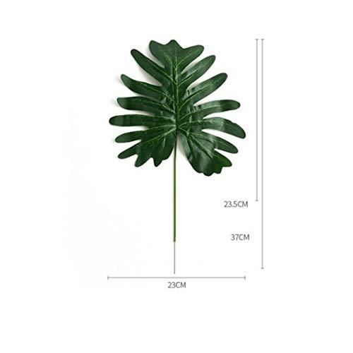 KAERMA Simulation Pflanze Frühling Taro Blatt Fee Taro Blatt Hochzeit Pflanze Wand-Blumen-Arrangement Zubehör Engineering Exhibition Indoor-Grün (Size : 1)
