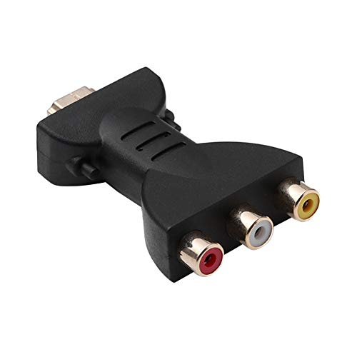 Hdmi a 3 RCA Convertidor, Adaptador Portátil Hdmi a Hdmi AV Rojo Blanco Amarillo a AV Convertidor De HD Hdmi Al Convertidor AV Adaptador Video del Convertidor De Audio