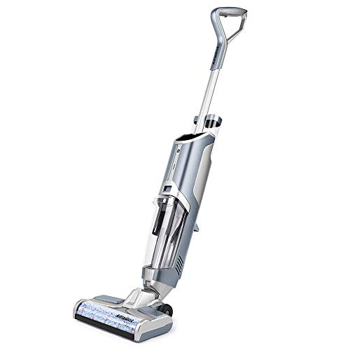 Wet Dry Vacuum Cleaner, AlfaBot T30 Cordless Vacuum Cleaner and Mop for Hardwood Floor and Area Rugs, Self Cleaning Wet-Dry Floor Cleaner with Dual Tank Techonology, Water Spray, Voice Assistance