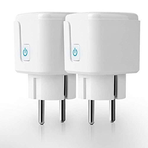 EZGETOP Smart Plug Mini WiFi Smart Steckdose WLAN Steckdose Intelligente Steckdose 16A/3650W, Funktioniert mit Android und iOS Siri, Google Home, Alexa, Google Nest Hub - Only Support 2.4 GHz WiFi