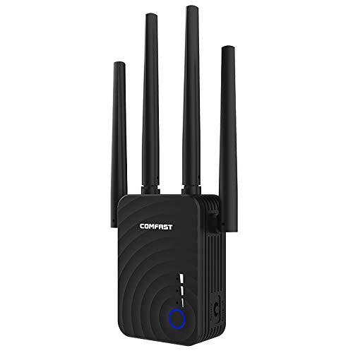 Xiaoxin wifi-extender 5,8 g Quattro wifi-antenne versterker/wifi-booster/AP/wifi-extender booster, draagbare draadloze signaaluitbreiding met WPS 1200 Mbps