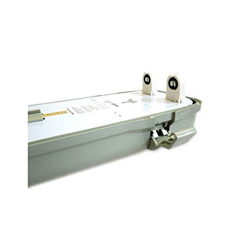 Plafoniera Stagna Doppio Tubo Led T8 120cm X 2 Neon A Led Impermeabile IP65 Esterno Interno
