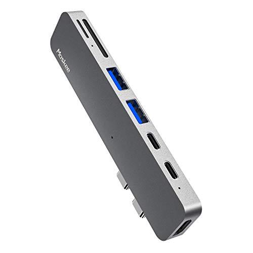 SUNKONG 7-in-1 USB-C Hub für MacBook, USB-C Adapter mit Thunderbolt 3 USB-C (100W PD), 4K HDMI Port, USB-C & USB-A 3.0 Datentransfer, SD & microSD Speicherkartensteckplatz