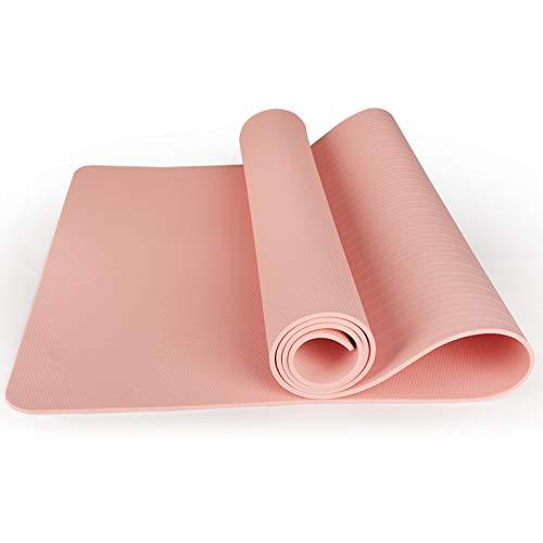 WXHXSRJ Esterilla de yoga, EVA ecológica y antideslizante, con correa de transporte para yoga, pilates y gimnasia, 183 x 80 x 1 cm, polvo de goma