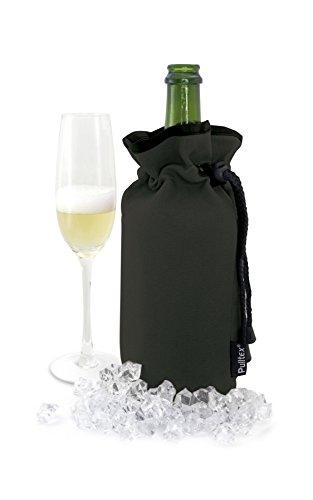 Pulltex Champagne Cooler Bag, Nylon, Nero, 18.5x 12x 4.2cm