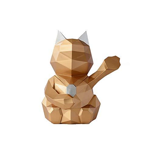 TKTY Caja simple moderna afortunada del gato papel sanitario, papel Dispensador de toallas, utilizado en baños y cocinas, papel higiénico y toallas de papel Cajas de almacenamiento Sala de té Tabla de