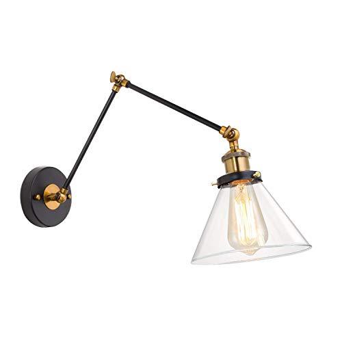 Met plug-glazen wandlamp, verstelbare arm, vouwwand, lamp, retro, industriële kunst, creatieve persoonlijkheid, restaurant, woonkamer, slaapkamer, werkkamer, bar