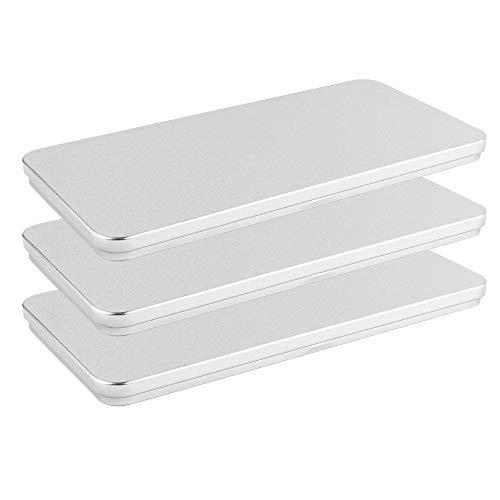 Metall-Boxen | 20,4 cm x 10 cm x 1,2 cm | 3 Stück
