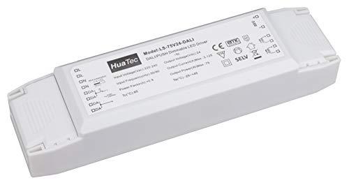 Preisvergleich Produktbild HuaTec LED Trafo 75W 24V DALI 1-10V Taster (PUSH) Dimmbar Multifunktion LED Netzteil Treiber Driver Transformator