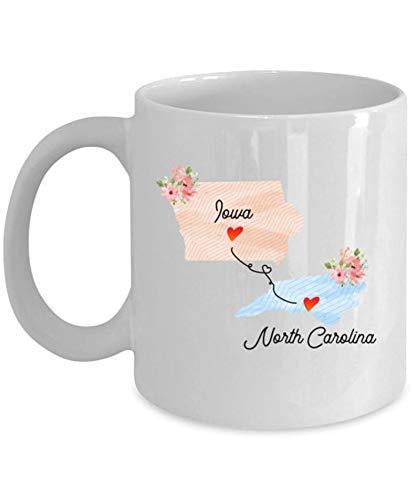Tazas Taza de café Iowa Carolina del Norte Mug 330ML