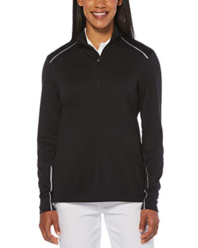 Callaway Damen Water Repellent 1/4-Zip Jacket Jacke, schwarz, Medium