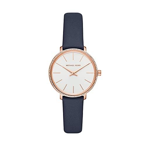 Michael Kors Women's Quartz Watch analog Display and Leather Strap, MK2804