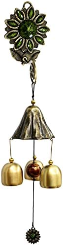 Sunflower lowest price Wind Chime Hanging Clearance SALE! Limited time! Copper Ornamen Flower Bell Sun