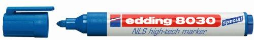Edding 4-8030003 NLS Marker - Korrosionsarme Beschriftung im Bereich Nuklear, Luftfahrt, Schifffahrt, 10er Schachtel - blau
