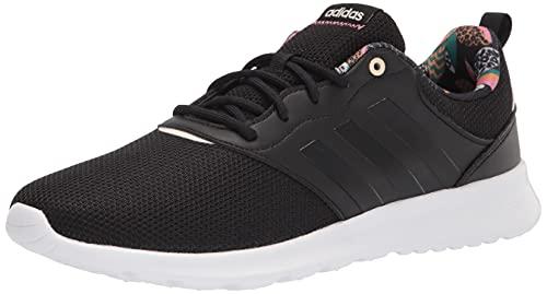 adidas Women's QT Racer Running Shoe, Black/Black/Wonder White,