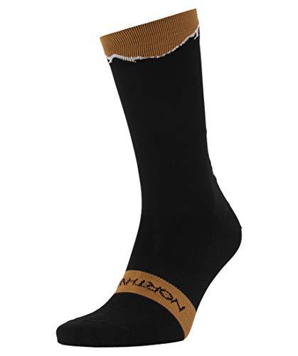 Northwave Clan Fahrrad Socken schwarz/braun 2020: Größe: L (44-47)