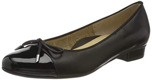 ara Women's Ballet Flat, Black,7.5 M US